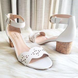 Kate Spade Willow White Cork Sandals